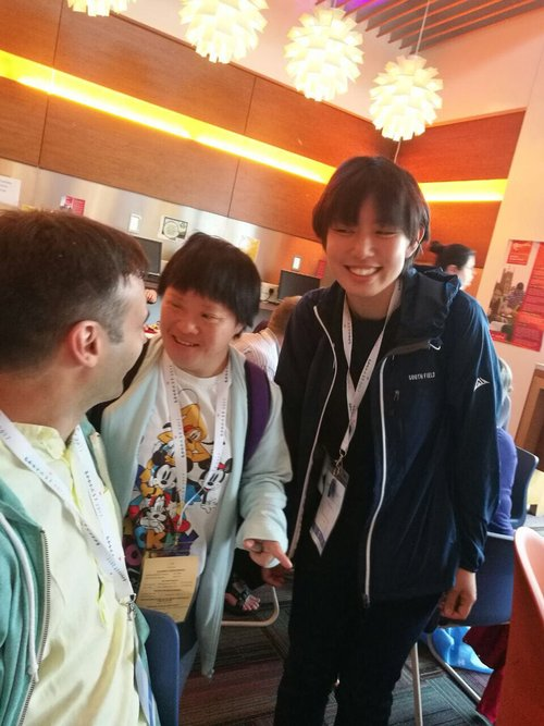 With Yuki from L'Arche Japan