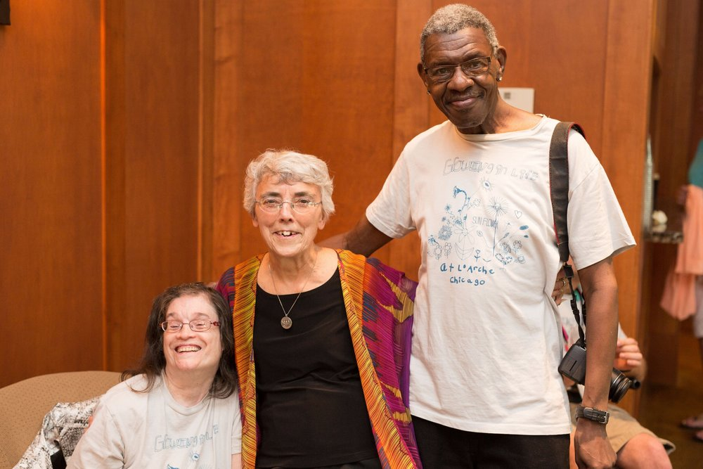 Jean Wilson, Sr. Maria Zeimen, and Elbert Lott , original members of L'Arche Chicago.
