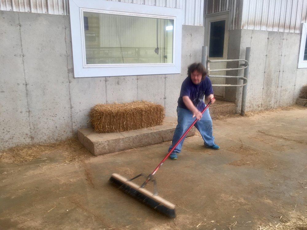Elisha, hard at work!