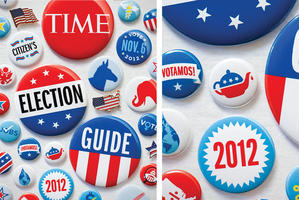 2012 Election Guide.  Time Magazine , Art Director: D.W. Pine