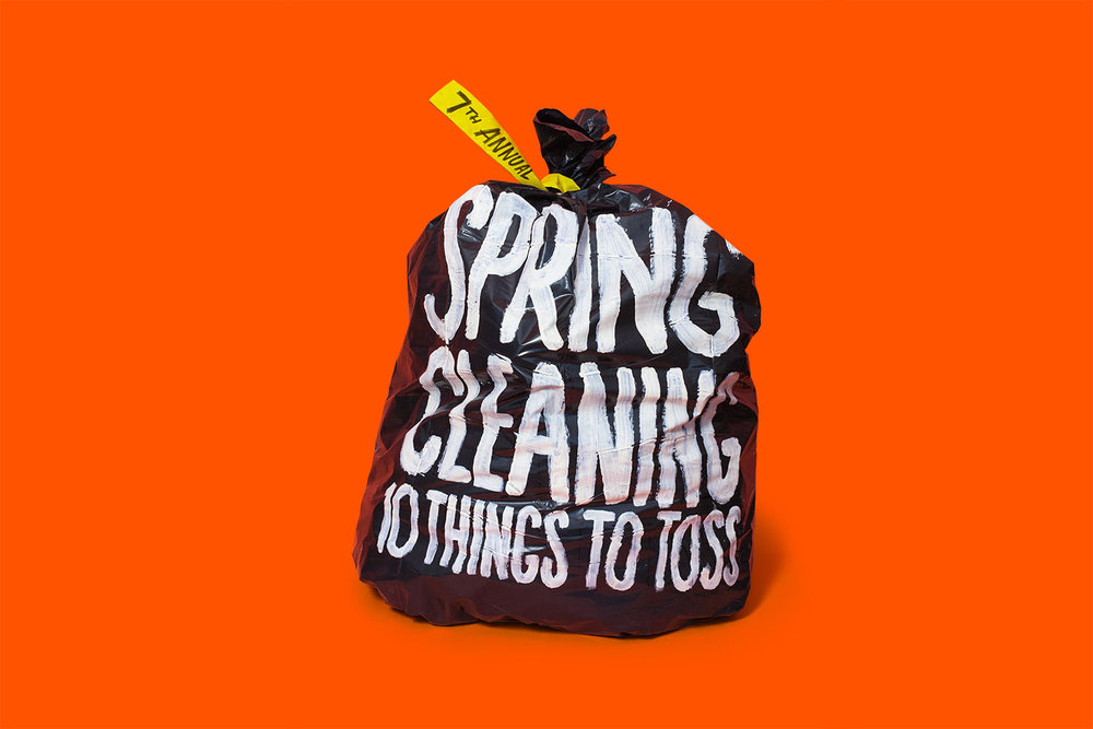 Spring Cleaning: 10 Ideas to Toss.  Washington Post,  Art Director: Chris Rukan