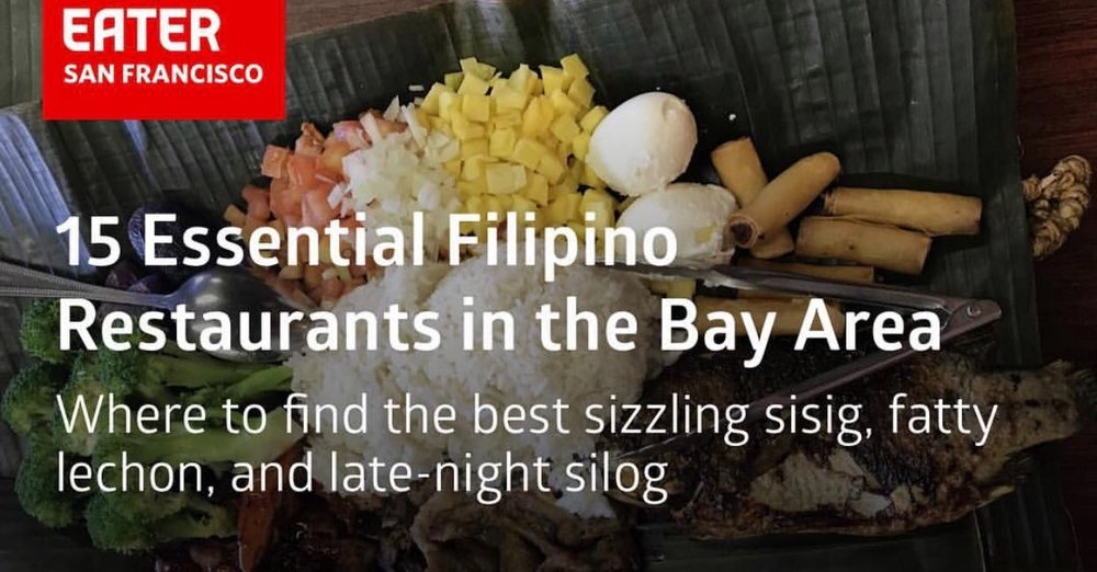 Many Filipino restaurants were featured in Eater SF, yet none from SOMA Pilipinas were represented.