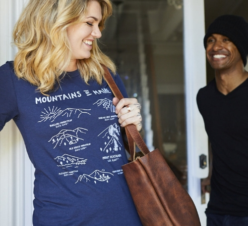 Mountains of Maine T-Shirt [$28] by way of   Hills & Trails