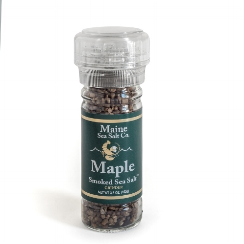 Maple-Smoked Sea Salt Grinder by way of   Maine Sea Salt Co.