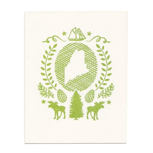 Maine State Greeting Card [$5] by way of   Morris + Essex