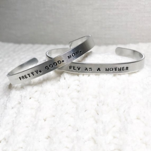 Mom Cuffs [$10] by way of   Grit & Pearl
