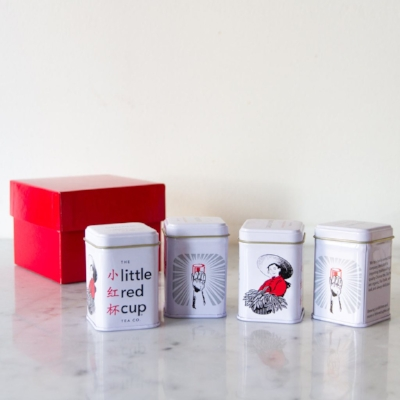 Four Tin Gift Sampler [$20] by way of   Little Red Cup Tea