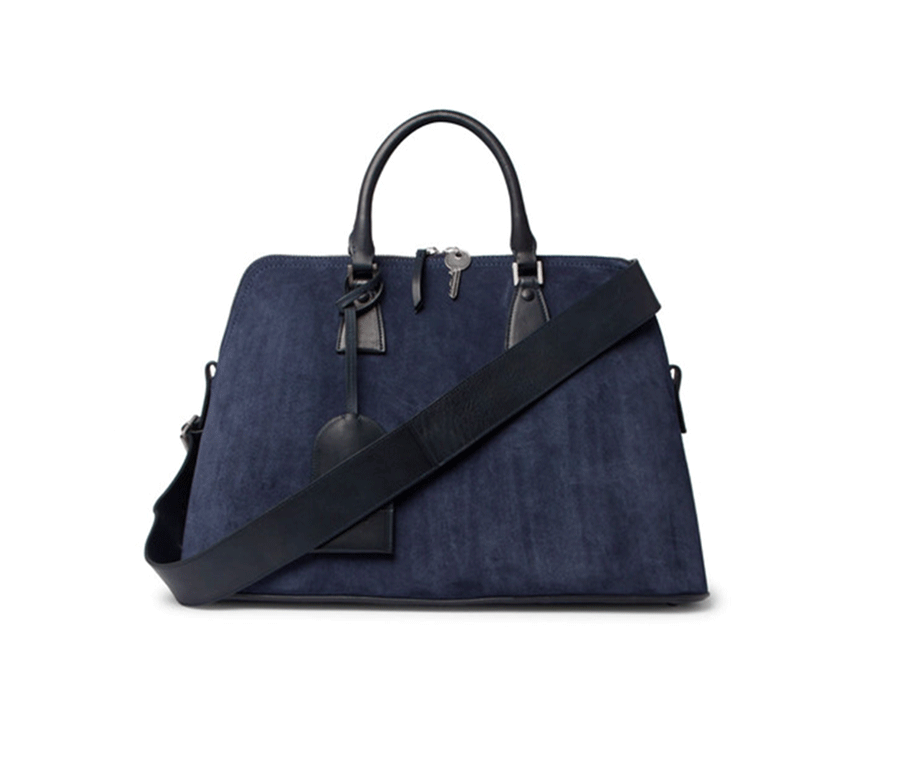 Suede bag by  Maison Margiela , available at Mr Porter