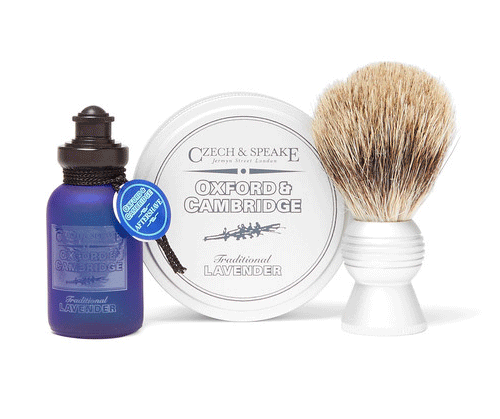 Shaving travel set by  Czech & Speake , available at Mr Porter