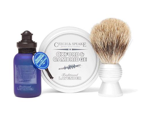 Shaving travel set by  Czech & Speake , available at Mr Porter