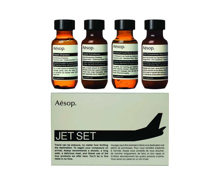 Jet Set Kit by  Aesop,  available at Wallpaper Store