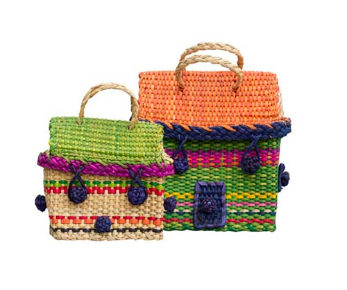 Straw bags by  Cabbages &  Kings