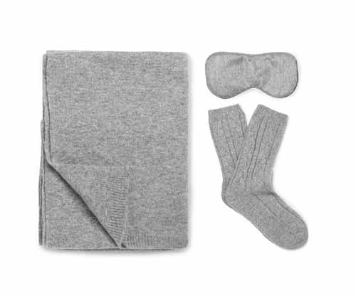 Travel cashmere kit by  Johnstons of Elgin