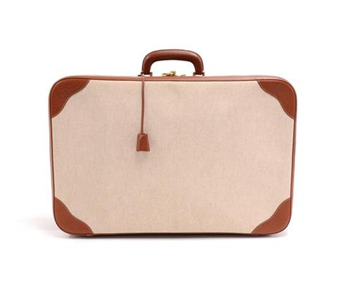 Canvas suitcase by  Hermès