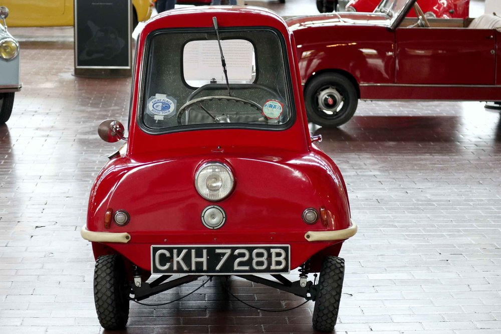MICROCAR MANIA ! - AT THE LANE MOTOR MUSEUM IN NASVILLEUNTIL MAY 21, 2018SEE THE WORLD'S SMALLEST PRODUCTION CAR - IT HAS NO REVERSE, JUST A HANDLE ON THE BACK TO TURN IT AROUND!