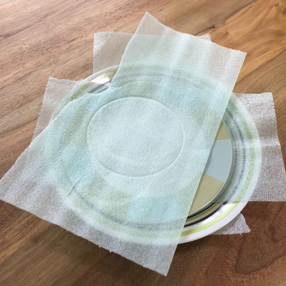 Foam Packing Sheets - These thin foam sheets come on a roll and are intended to keep things from breaking in a move. Place them between the dishes in your RV and you will not hear a peep out of that cupboard as you roll down the highway.