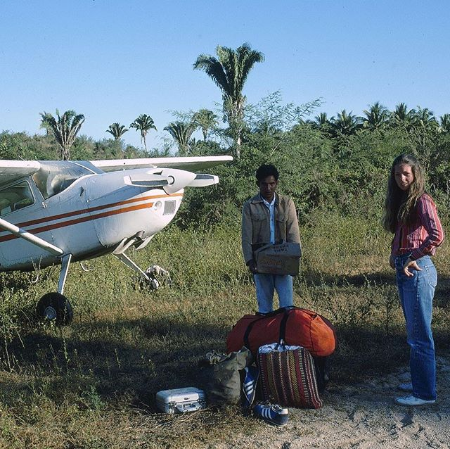 Remote runway in Mexico with a C185.
