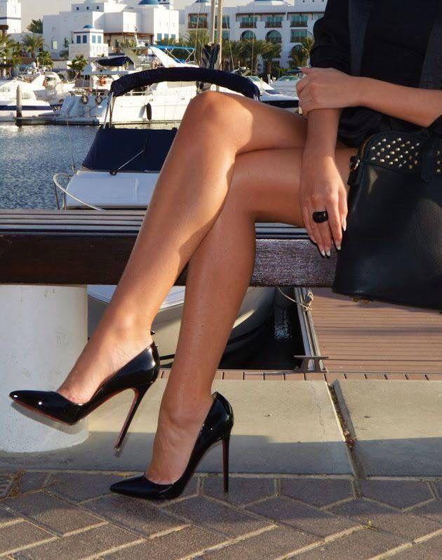High heel leg tease