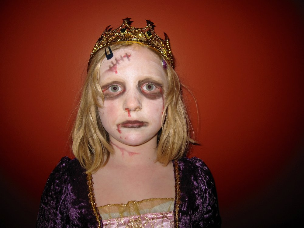 Yes, this is me--zombie princess. People have told me I have an interesting personality.