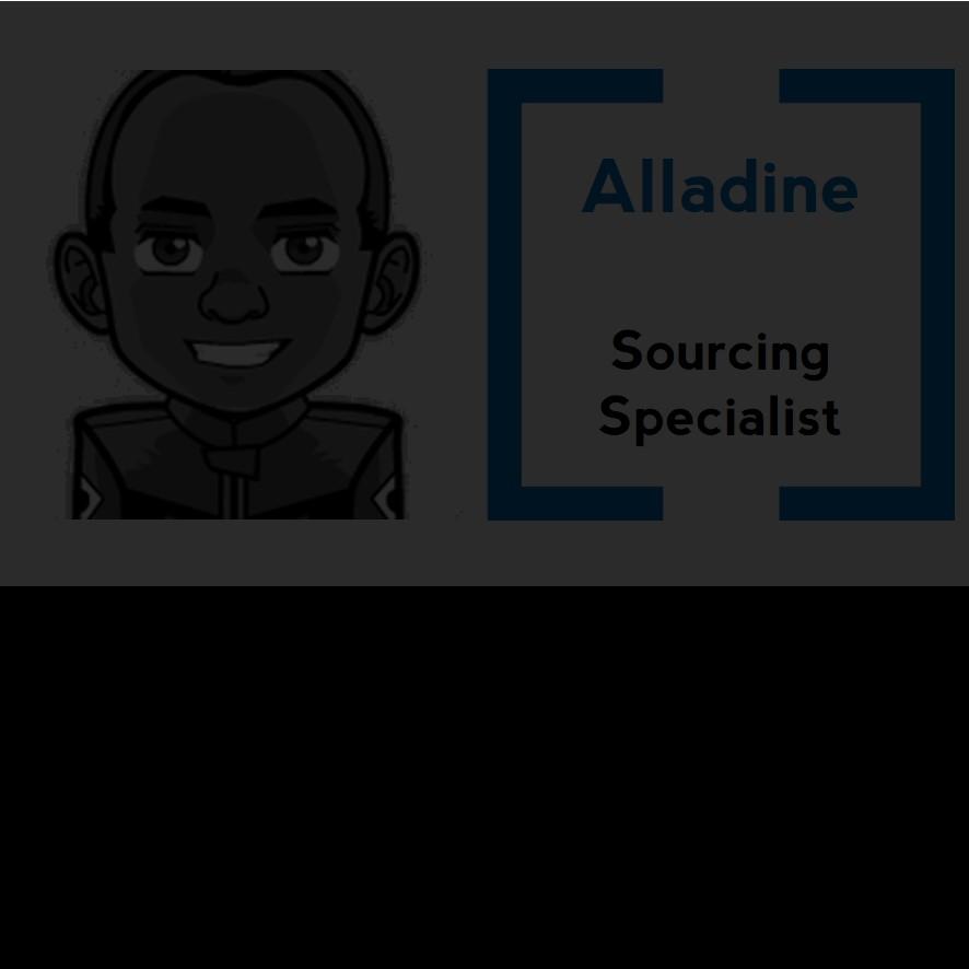 De Paris à Marseille, Alladine participe aux Show Sourcing du domaine IT et Fonctionnel. Du Consultant SAP à la Sappe, il étudie tout profil à la mode.  Je dirais aux futurs candidats de rester eux-mêmes, c'est sans doute l'essentiel.