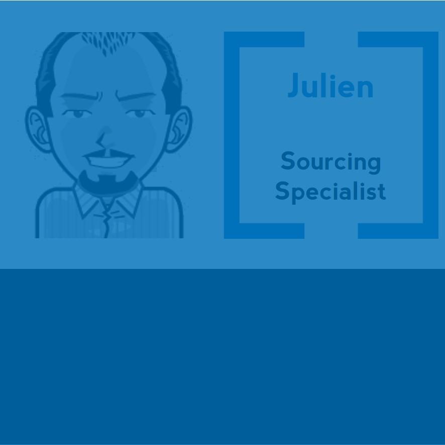 Fin sourceur, Julien est notre recruteur de bricoleurs ! En dehors, il a le goût de l'effort, aime le sport, joue à l'apprenti ténor, et bien plus encore !