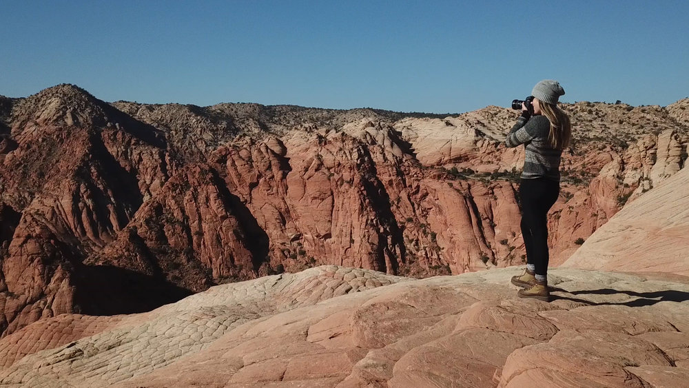 Shooting in Yant Flat, a remote BLM trail marked by sandstone ridges that look a whole lot like a dragon's back.