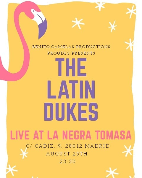 Join us in Madrid for our last gig of the Spain Tour 2018! #thelatindukes #thelatindukesfever #thelatindukesspaintour #latinmusic #lanegratomasa
