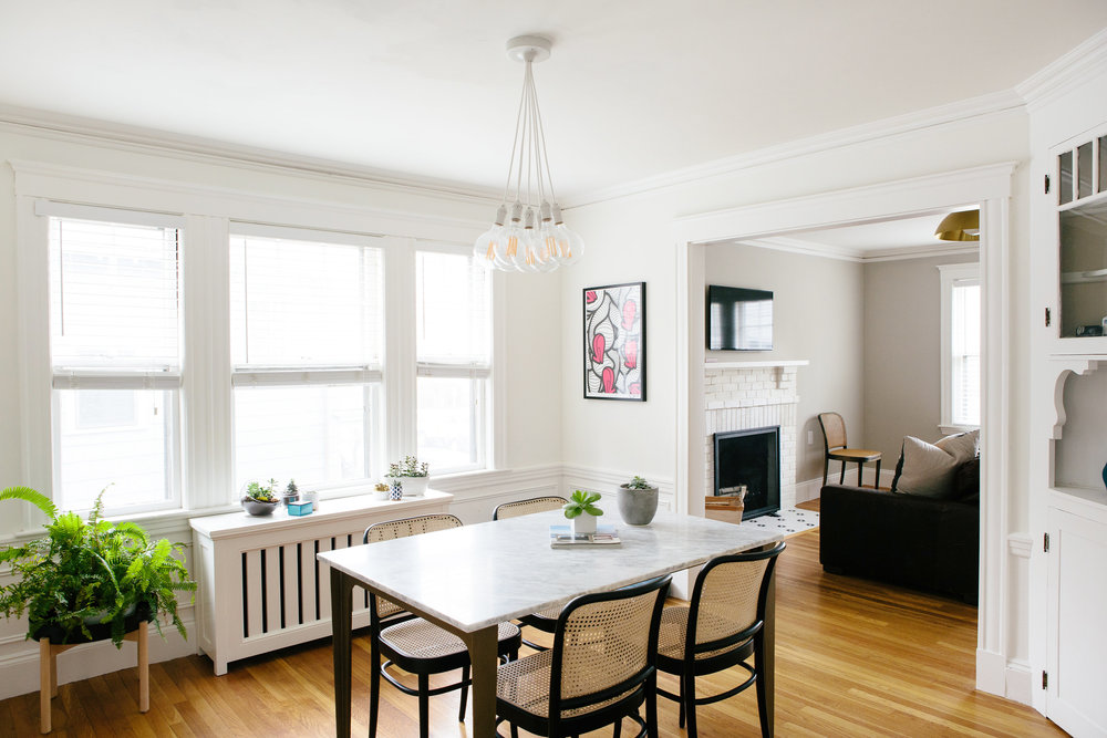 CommonGrid Branding - Originally built in 1923, the Castleton Project is the top floor of a two family home location in the Jamaica Plain Neighborhood of Boston. When CommonGrid began the project, the apartment had not had any major updates since 1995.