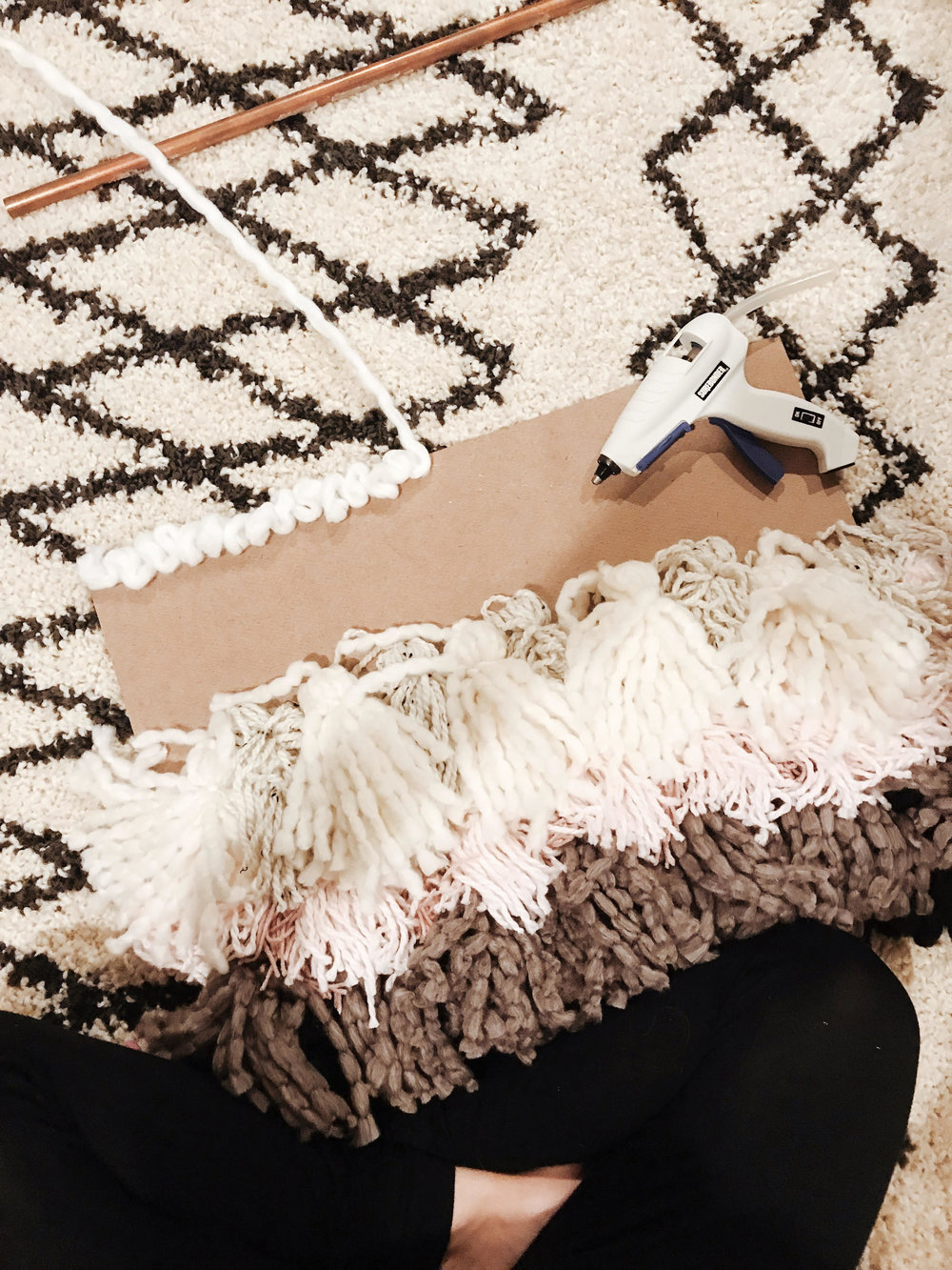diy craft faux weaving