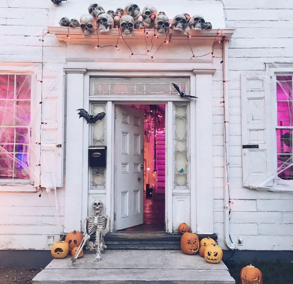 Spookiest pretty porch display  via Urban Outfitters