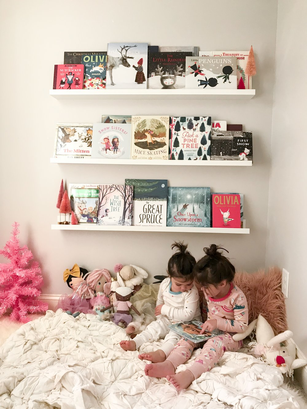 Our holiday book collection was so fun this year! and so were the girls Christmas jammies. You can find the  book selection here  and the  jammies here.