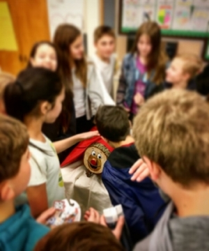 Tio de Nadal - a Catalan tradition, shared at West Sylvan Middle School.