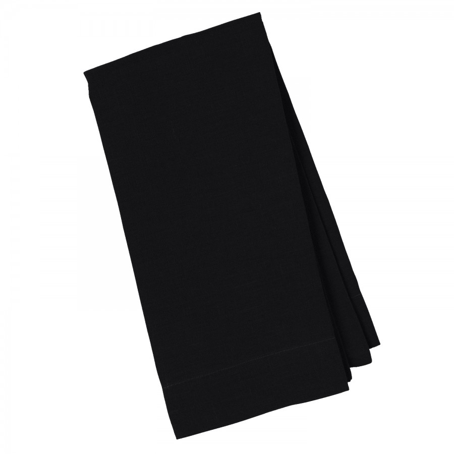 Black Linen Napkin - $1.40