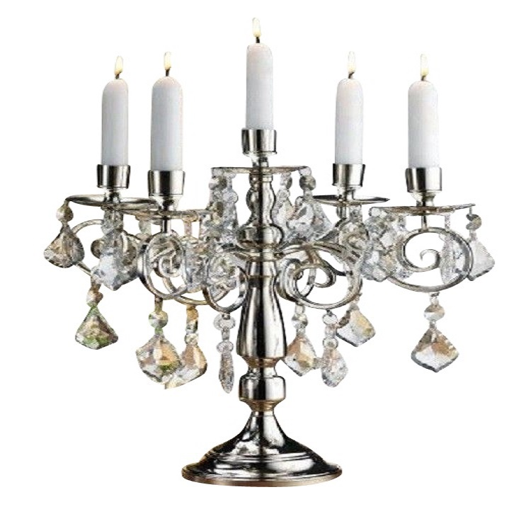 Black Crystal Candelabra - $20.00
