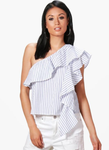 One shoulder top from BooHoo