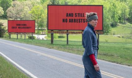 "Actress: Frances McDormand, ""Three Billboards Outside Ebbing, Missouri"""