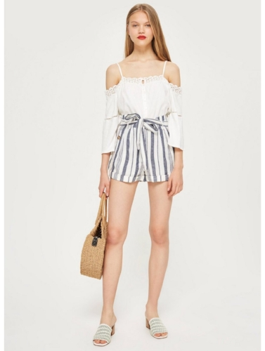 Topshop Striped Shorts