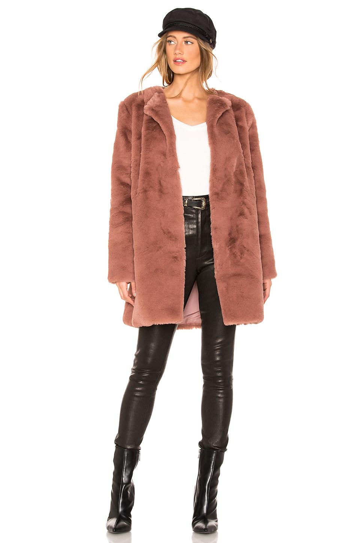 BB Dakota Colored Faux Fur Coat