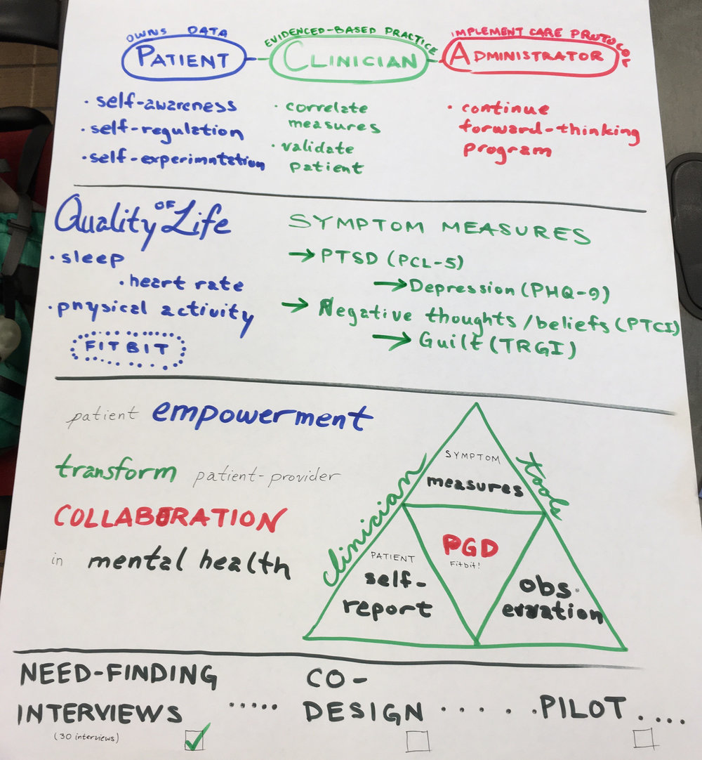 Summary Outline - I drew this to use as a prop when presenting our project to RWJF program officers.