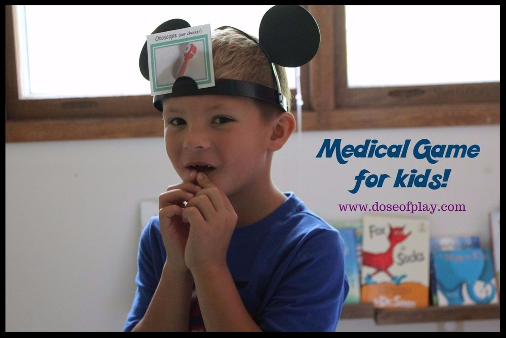 Create DIY cards for this popular children's game that are medical related to kids learn and cope with medical experiences.