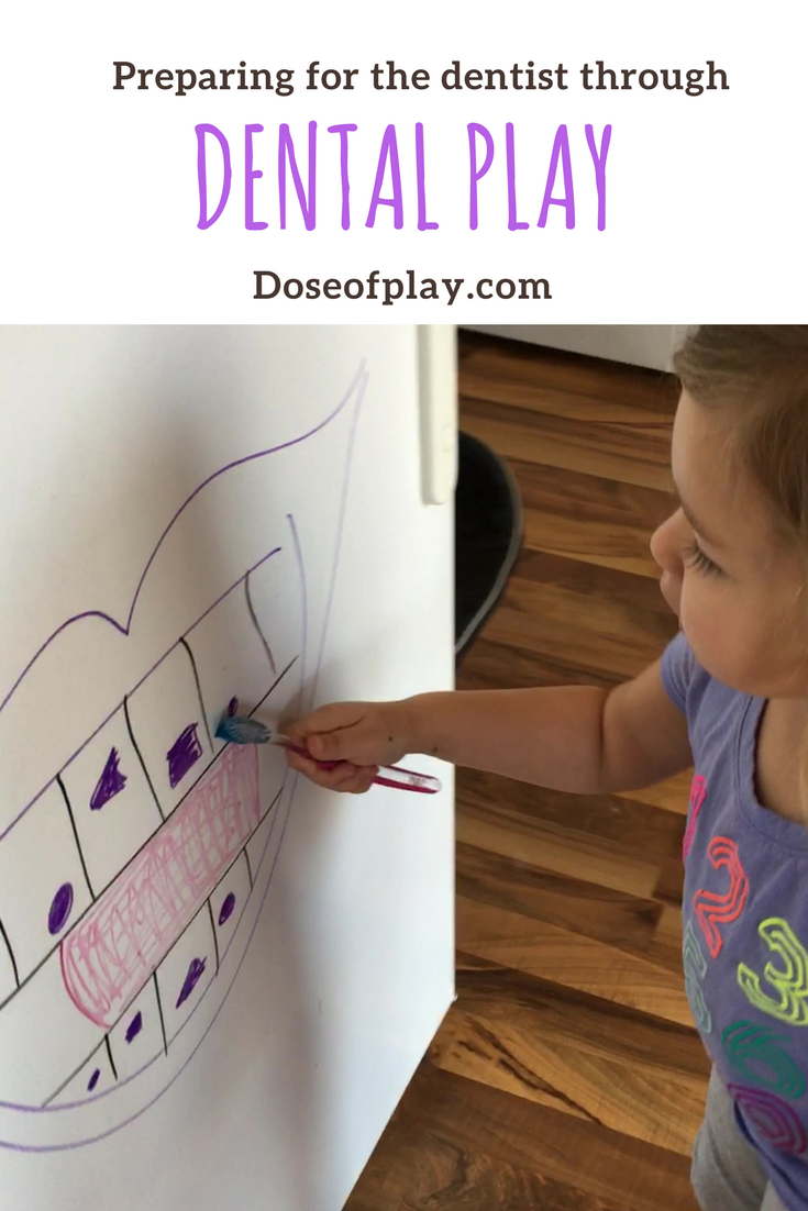Preparing for the dentist through dental play #doseofplay #dentalplay #dentist #goingtothedentist #preparingforthedentist #teethbrushing #teethbrushingplay #playideas #toddlers #preschoolers #toddlerplay #preschoolplayideas #dentaltheme