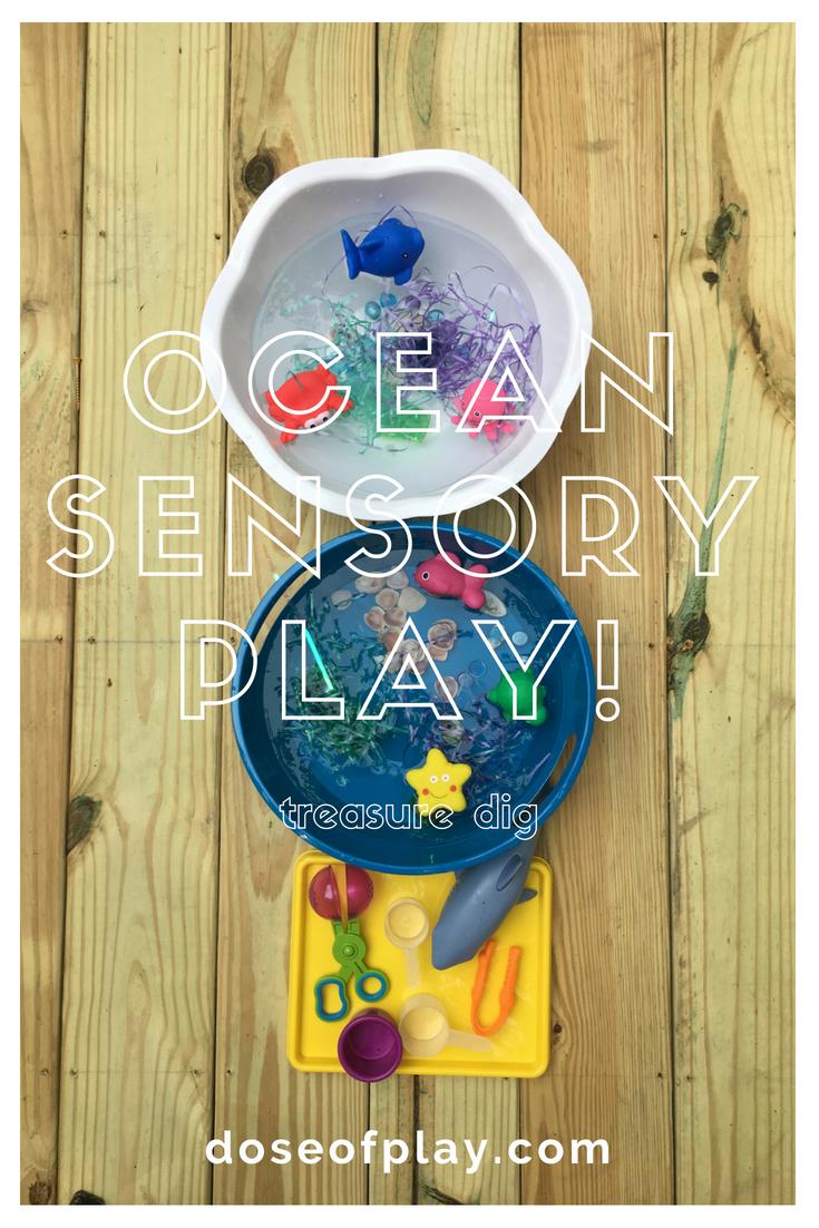 Ocean Treasure Dig #sensoryplay #oceansensoryplay #play #toddlerplayideas #preschoolplayideas #easyplayideas #waterplay #toddlers #preschoolers #childlifespecialist #bedsideplay #hospitalplay #dollarstoreplay #dollartreefinds #occupationaltherapist #finemotorskillspractice #rectherapy