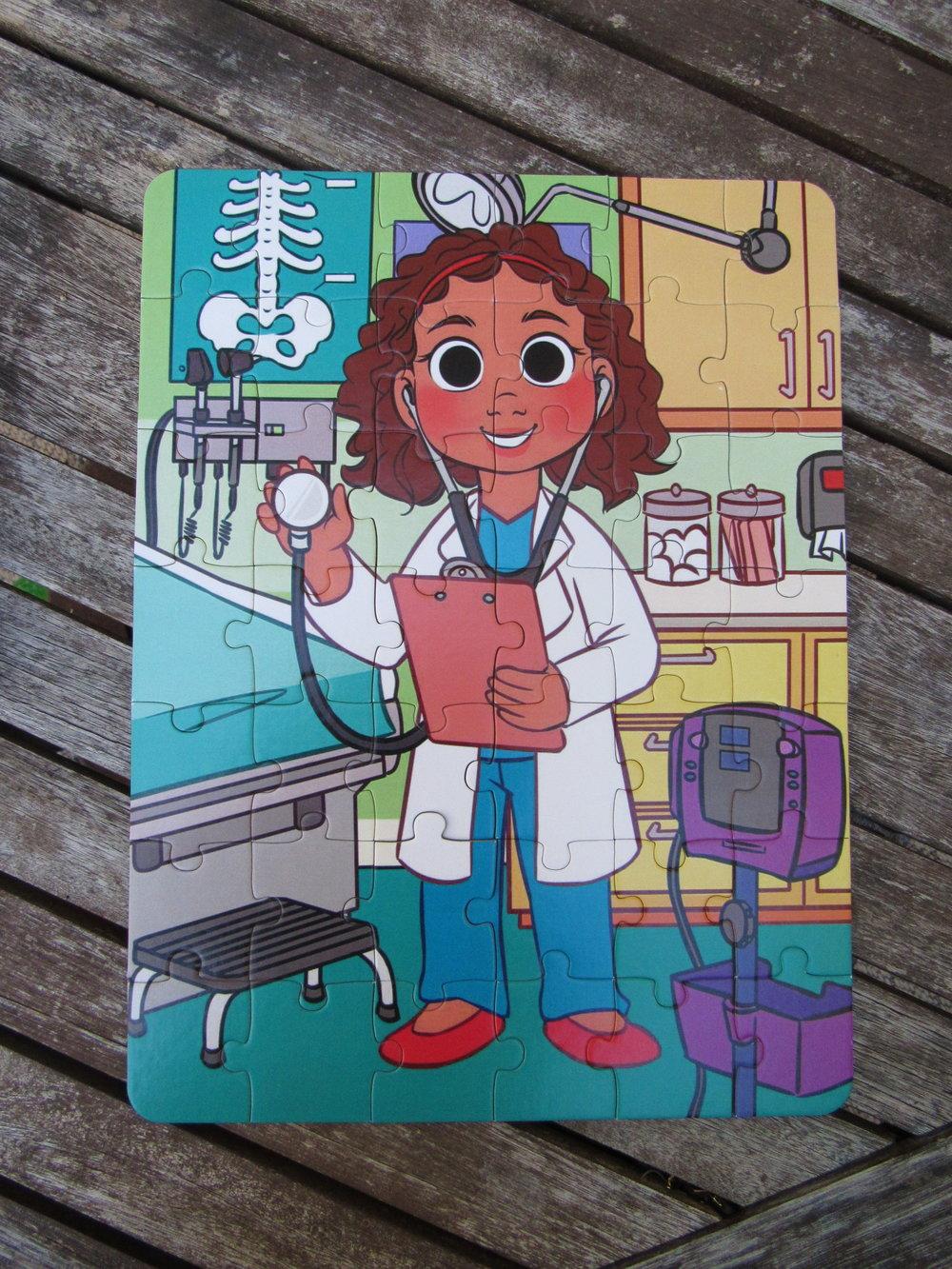 Doctor Puzzle #medicalplaygiftguide #doseofplay #puzzle #kidpuzzle #preschoolgiftguide #toddlers #preschoolers #threeyearsold #fouryearsold #fiveyearsold #doctor #doctortoy #futuredoctor #diversecharacters #diversity #diversetoy #multiculturaltoy