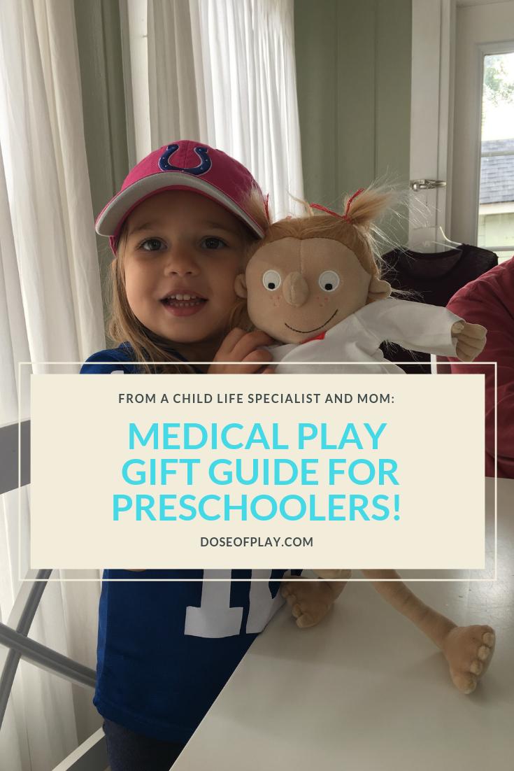 Medical Play Gift Guide for Preschoolers #medicalplay #doseofplay #surgeryplay #surgery #doctorplay #giftguide #preschoolers #medicaltoy #surgerydoll #dollplay #pretendplay #learningthroughplay #giftguideforpreschoolers