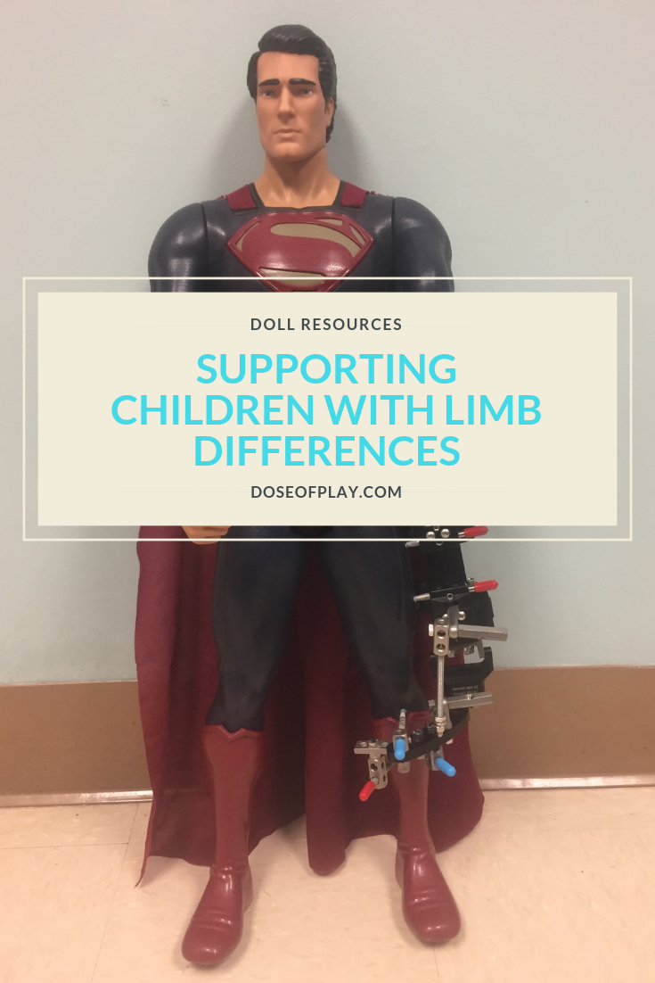 Supporting children with limb differences #limbdifferences #doseofplay #dolls #fixator #dollslikeme #prosthetics #aumputation #amputee #adolllikeme #childlife #childlifespecialist