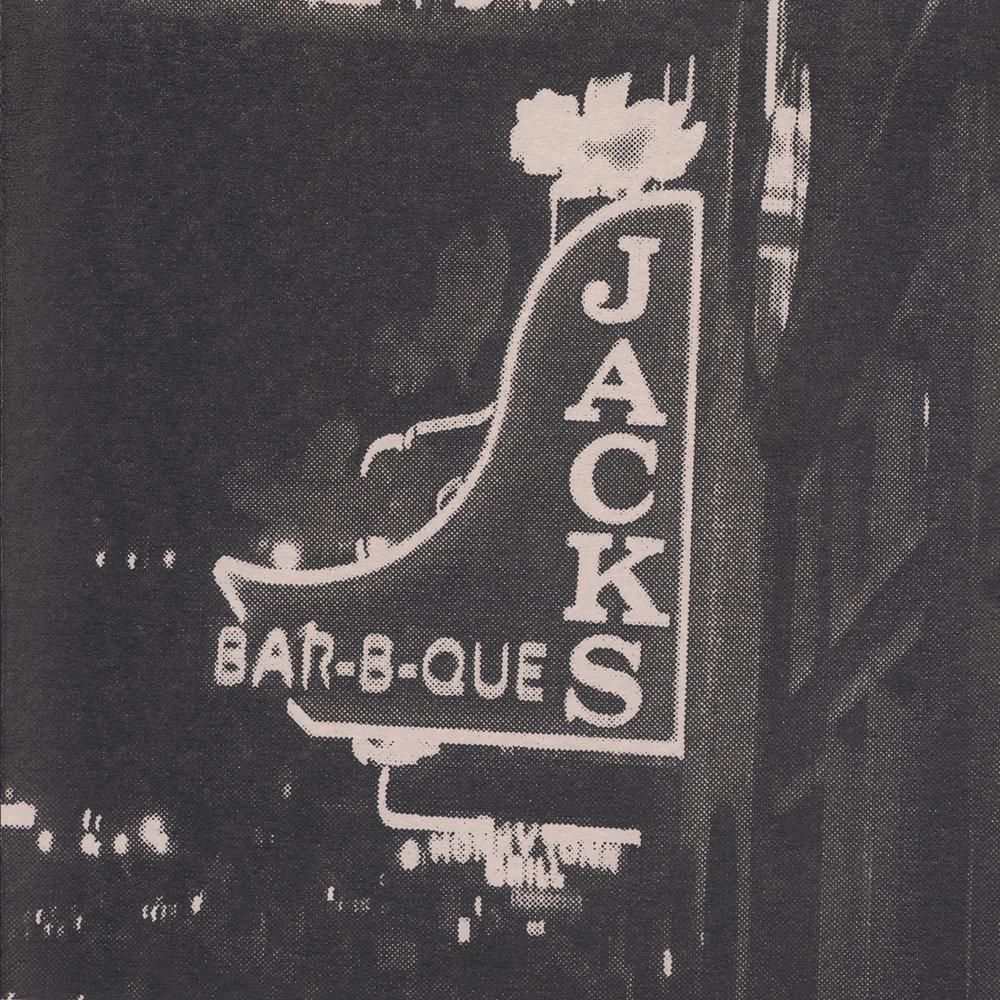 Downtown Nashville , detail, two colour screen print on paper, detail, 13cm (w) x 19.5cm (h), 2017  Photo by Brenton McGeachie