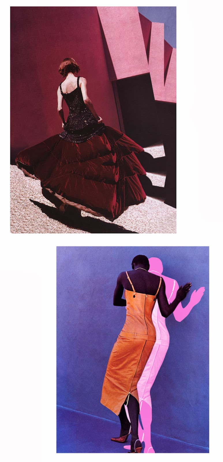References   Audrey Marnay by Herb Ritts   | Enchanted Evening, US Vogue, September 1999   Alex Wek by Gilles Bensimon   | Elle USA, March 1999