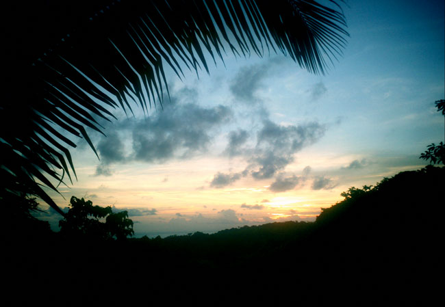 Sunset view from the internet center - PachaMama, Guanacaste, Costa Rica