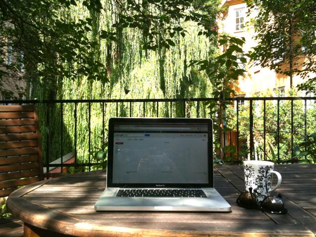 Stockholm afternoon workspace