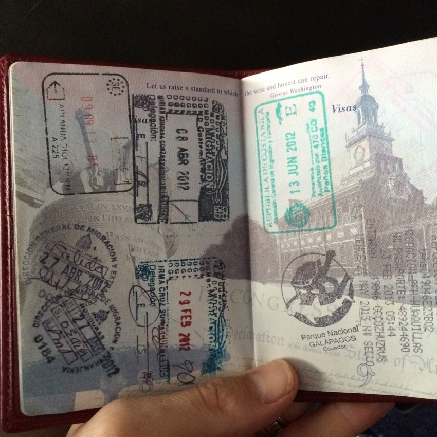 Favorite two pages of my passport